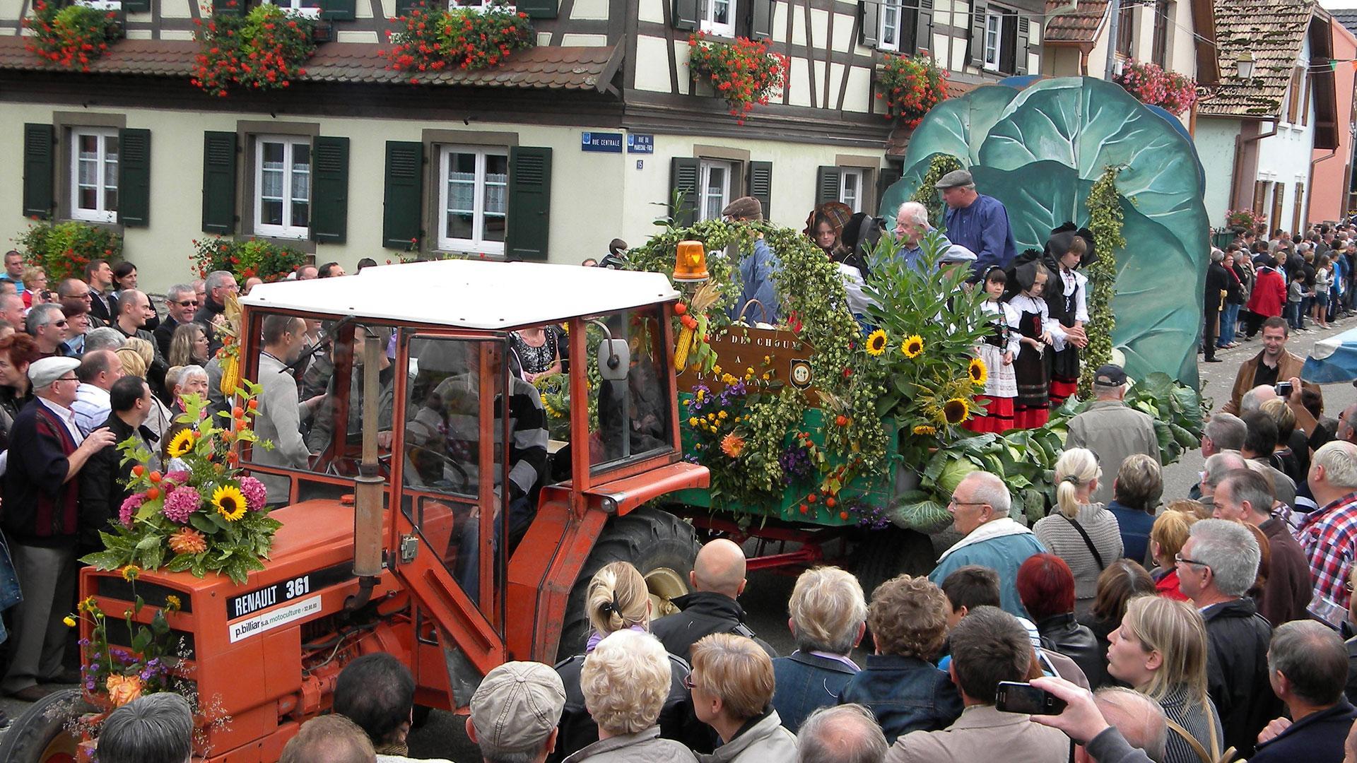 Photo d'un char à la Fête de la Choucroute à Krautergersheim - 1
