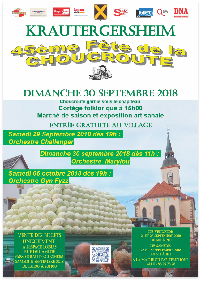 Affiche de la 45ème Fête de la Choucroute